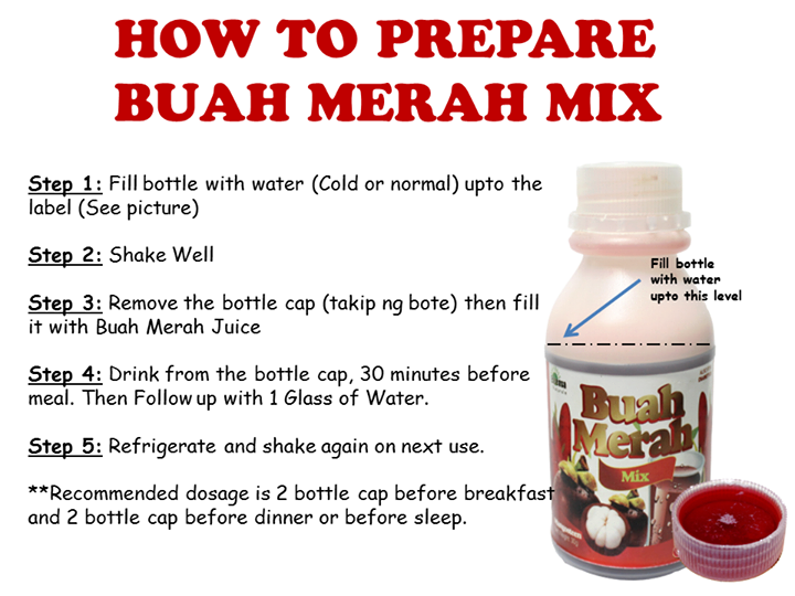 Directions In Preparing The Juice Buah Merah Pure